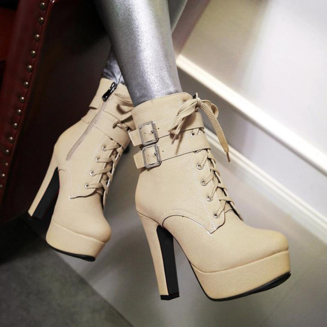 High Heels Ankle Boots