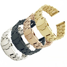 18/20/22/24mm High Quality Silver Solid Link Watch Band Strap Stainless Steel Luxury Replacement Bracelet Adjustable Watchbands цены