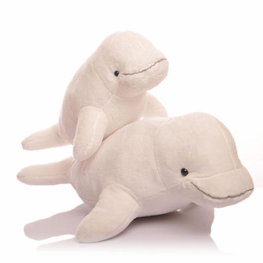 Cute Stuffed Animals Baby Toy For Kids Gift Birthday Pluche Stuffe Speelgoed White Kawaii Dolphin Stuffed Animals Plush 70C0323