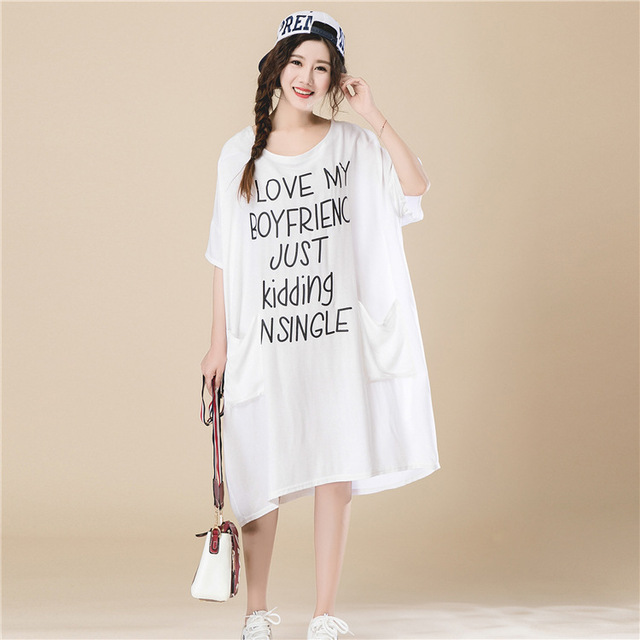 loose black t shirt dress