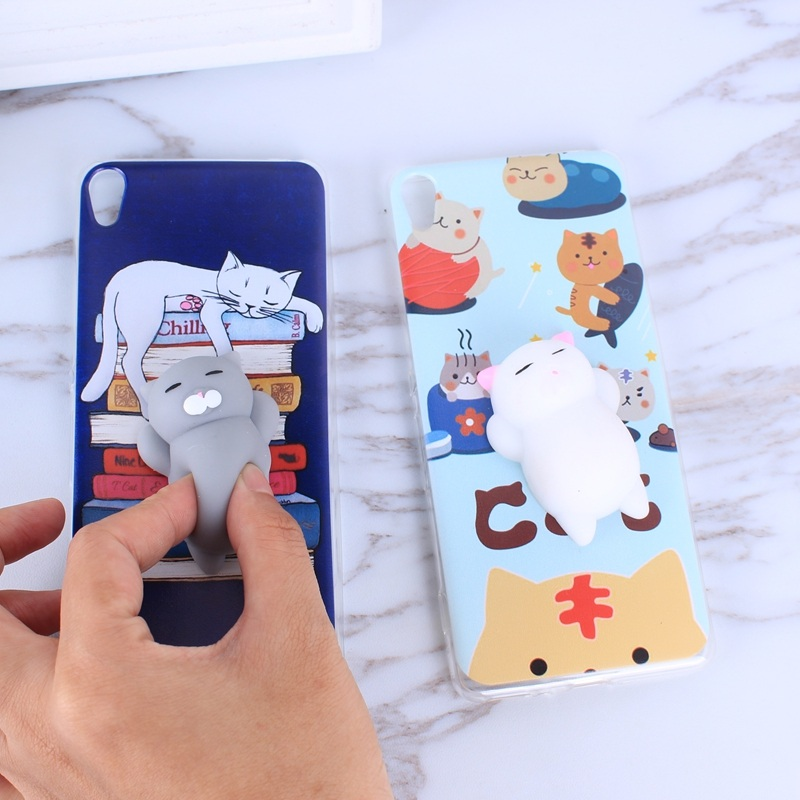 best loved 1870b cb48c 3D Squishy Cat Phone Case For Sony Xperia XA F3111 F3113 Silicone Case For  Coque Xperia XA XA1 Plus Mobile Phone Cover Capas