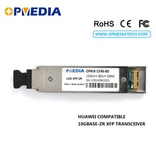 цена на 10GBASE-ZR ethernet,10G 1550nm 80km XFP transceiver, DDM funcion,dual LC  connector module,100% compatible with Huawei equipment