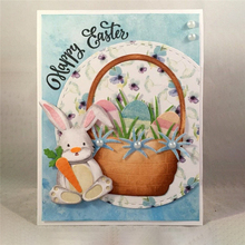 InLoveArts Easter Bunny Basket Flower Cutting Dies for DIY Scrapbooking Album Decorative Embossing DIY Card Paper Craft Dies