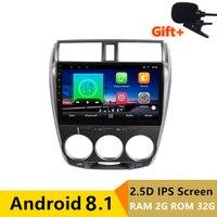 10 2 + 32G 2.5D ips Android 8,1 Автомобильный мультимедийный dvd плеер gps для Honda CITY 2008 2009 2010 2011 2012 2013 радио стерео навигации