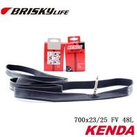 Free shipping High quality Kenda tube 700x23/25 presta valve 48mm long for road bikes