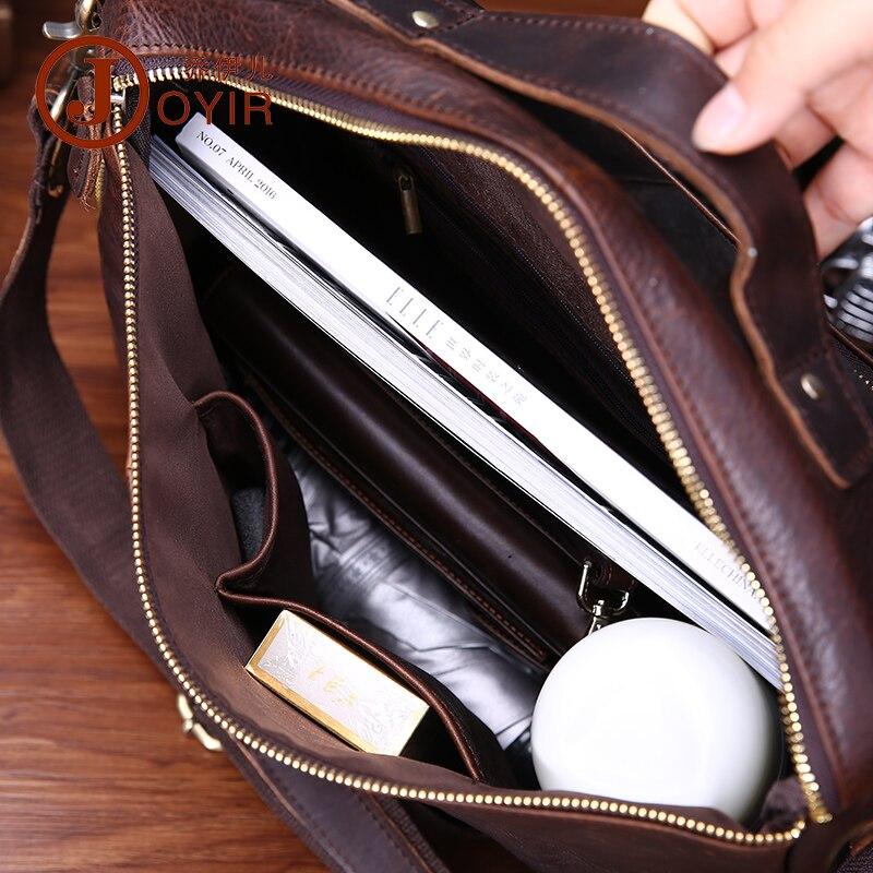 Vintage prave kože muške aktovku torbu poslovne muške laptop - Aktovke - Foto 6