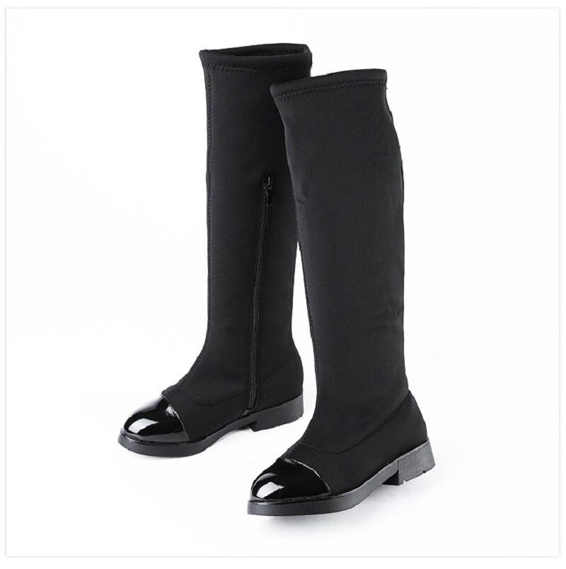 Girls Audacious Girls Flat Boots 2017 Fashion Retail Trendy Kids Boots Princess Elegant Girl High-leg Boots Winter Children Plus Cotton S8a01 Quality And Quantity Assured