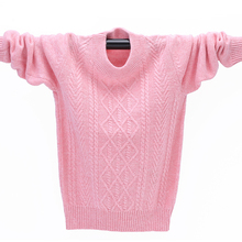 Winter High Quality Cashmere Sweater Kids Pullover Sweater Warm Children Cardigan Boys Wool Sweater Jumper for Girls 3-12 Yrs girls pullover wool sweater thick warm tops kids ribbed sweater 100