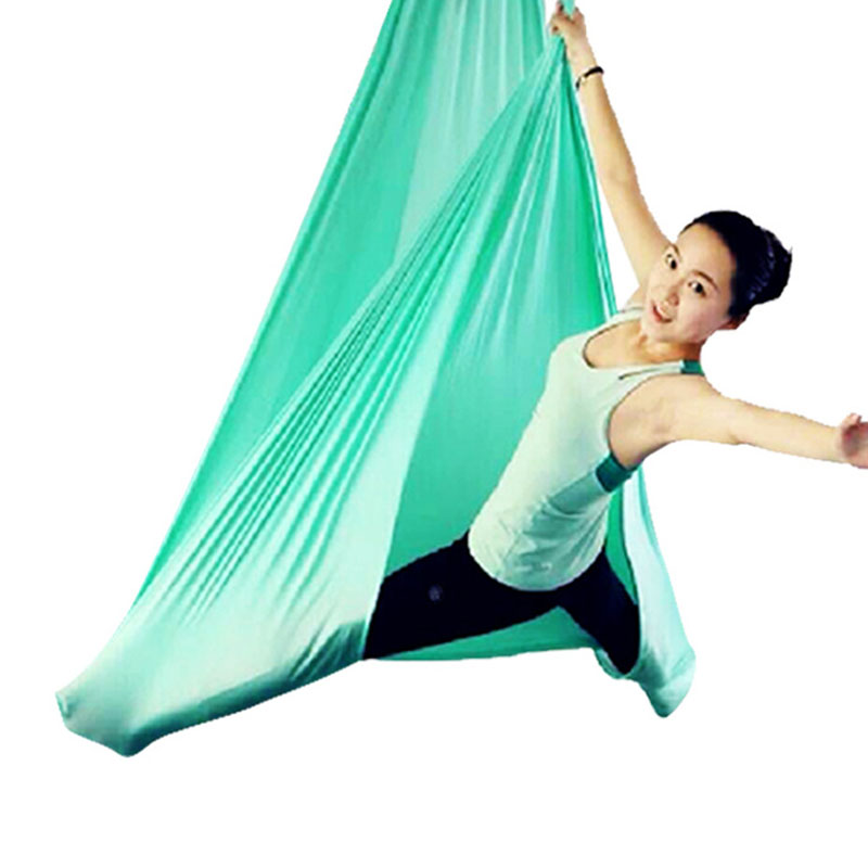 Aerial Anti-gravity Yoga Hammock Nylon Sling Yoga Hammock High-altitude Sling Stretch Belt Yoga Strap Yoga Accessories кук ля кук крем детский с маслом миндаля и экстрактом ромашки 0 75 мл
