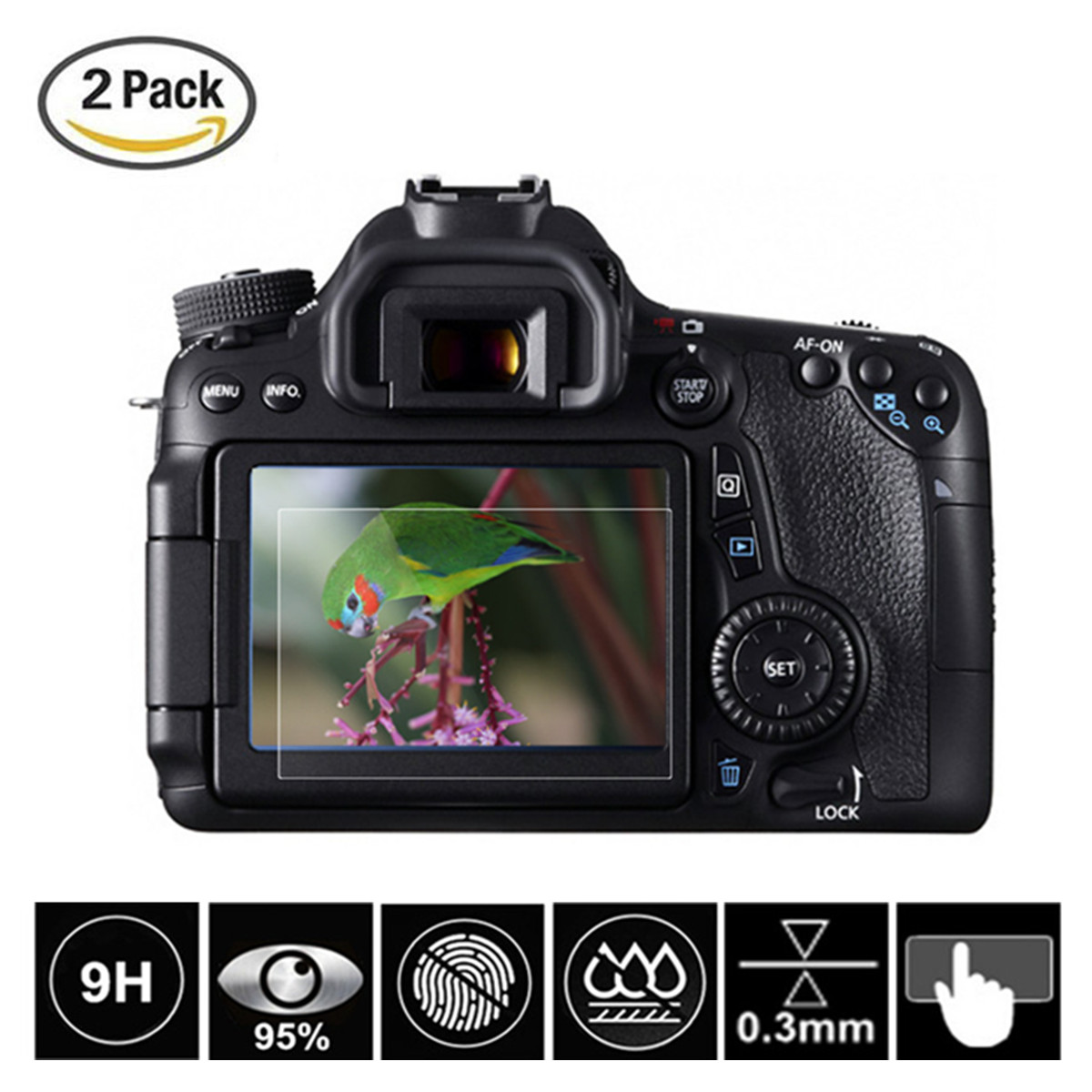 Camera & Photo Accessories Friendly 2 Pcs Tempered Glass Screen Protector For Canon Eos 5d Mark Iv Iii 5ds 5dsr 6d 7d Ii 77d 70d 80d 750d 760d 800d 1200d 1300d 1500 Goods Of Every Description Are Available