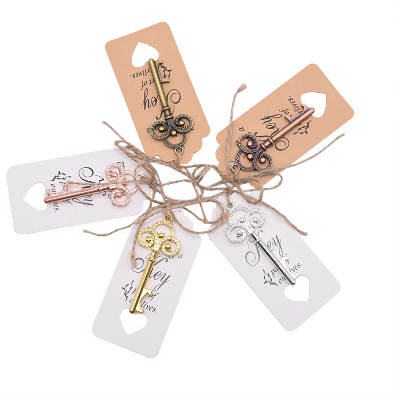 1pc Portable Key Bottle Opener Rose Gold Silver Retro Metal Keychain Hanging Ring Beer Opener Home Bar Tool Unique Creative Gift in Openers from Home Garden
