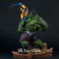 Аниме Халк Vs Росомаха Статуя Главная Коллекция Модель украшения игрушки