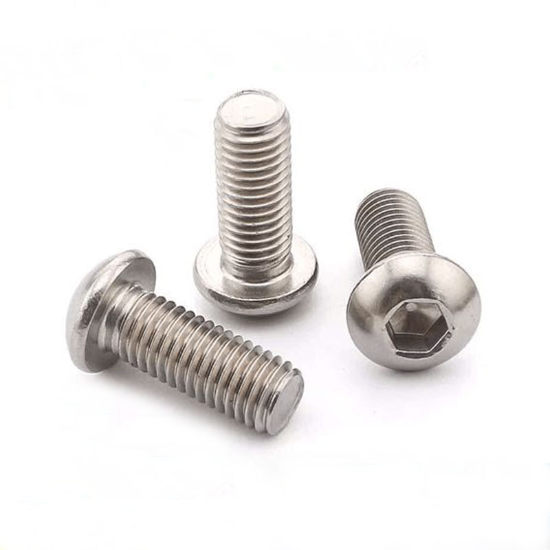 Pack of 10 M5-0.8 Metric Coarse Threads Fully Threaded 20mm Length Plain Finish Button Head Internal Hex Drive Vented 18-8 Stainless Steel Socket Cap Screw
