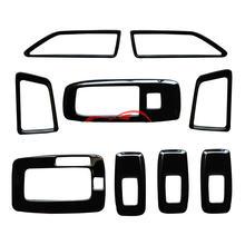 Ярко черный интерьер из 9 предметов для ford ranger 2015 2017