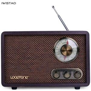 Image 3 - FM/AM Radio double bande Antique bois Vintage classique rétro maison bureau Radio Bluetooth haut parleur