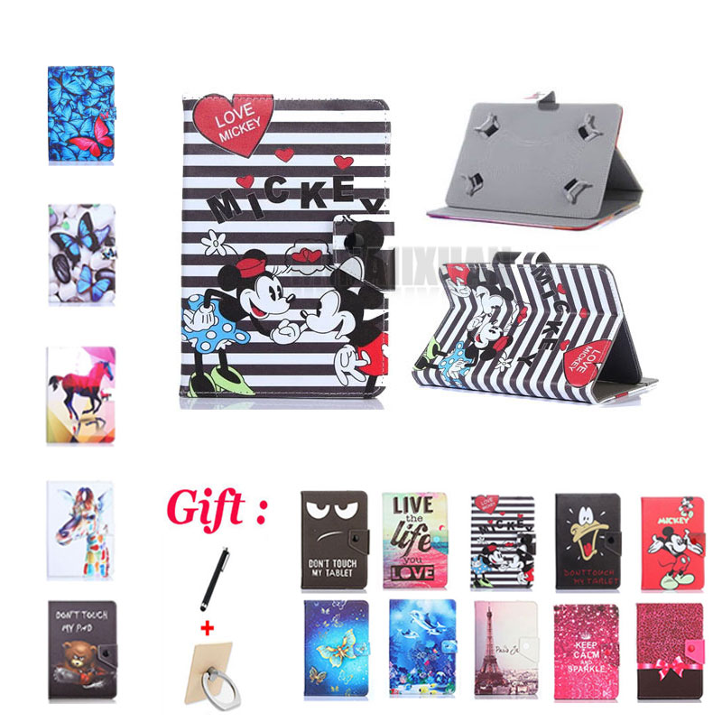 Universal 7 Inch Printed Case For Huawei Mediapad T3 T1 T2 7.0 Pro BG2-U01/W09 BGO-DL09/L03 T1-701U PLE-701L/703L Tablet + Gift