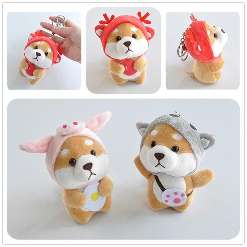 Kawaii Stitch Stuffed Animals Shiba Inu 12 Chinese Zodiac Dress Up Plush Toys Cute Cartoon Plush Animal Dog Stitch Doll Kid Toys