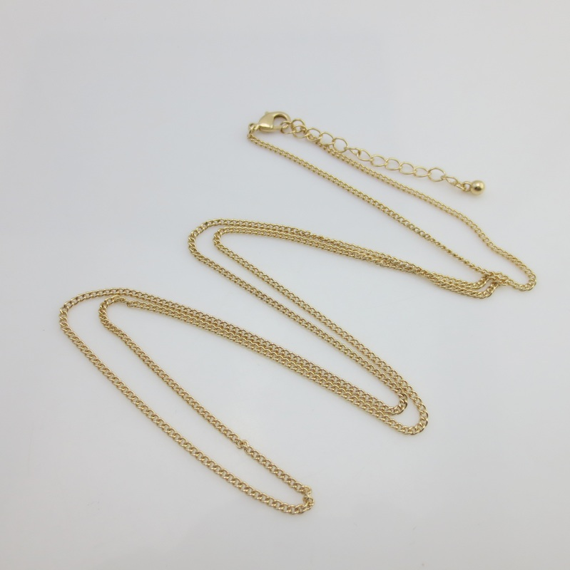 Free Shipping 2017 new fashion royal Silver gold color Lobster Clasp Cable Link Chain noble hip Necklace long women trendy 80cm