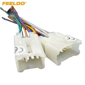FEELDO 10 coche OEM estéreo de Audio del adaptador del arnés de cableado para Toyota/instalar accesorios pertinentes Scion CD/DVD estéreo #1794