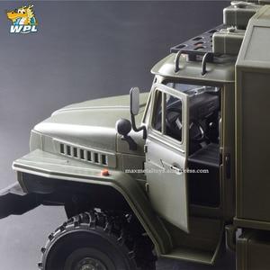 Image 5 - WPL B36 1:16 Ural RC Car 6WD Military Truck Rock Crawler Command Communication Vehicle KIT Toy Carrinho de controle