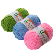 1pc Cotton Knitting Yarn Crochet Yarn for Knitting Anti-Static Soft Cheap Yarn Factory Price for Sale 25g