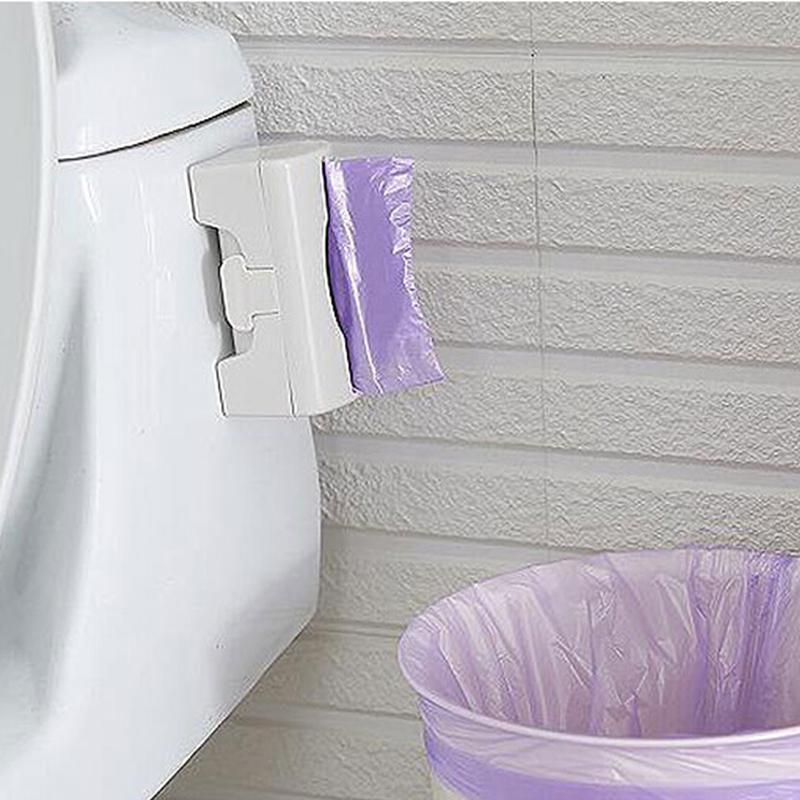 1pc Wall-mounted Garbage Bag Storage Box Container Multi-purpose Grocery Dispenser Bathroom Organizer Rack Tray kithcen supplies