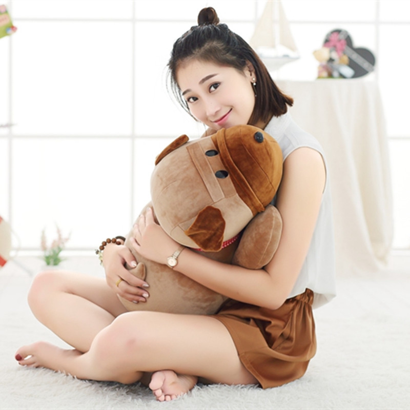 70cm Huge Cartoon Shar Pei Dog Plush Toy Stuffed Soft Dog Pillow Kids Baby Cute Animal Doll Creative Children's Birthday Gift stuffed plush toy huge 95cm prone panda doll soft throw pillow birthday gift b0487