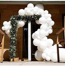цена на METABLE 100PCS 12 Inches Snow White Balloons Mother's Day Balloons Opaque Thick Latex Helium Balloons Pure White Plain Color