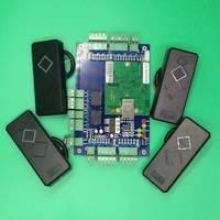 Freies Verschiffen Wiegand Zwei Tür Access Control Board Panel für TCP/IP Sicherheitssystem mit 4 stücke Rfid 125 Khz reader-in Zugangs Control Tastaturen aus Sicherheit und Schutz bei