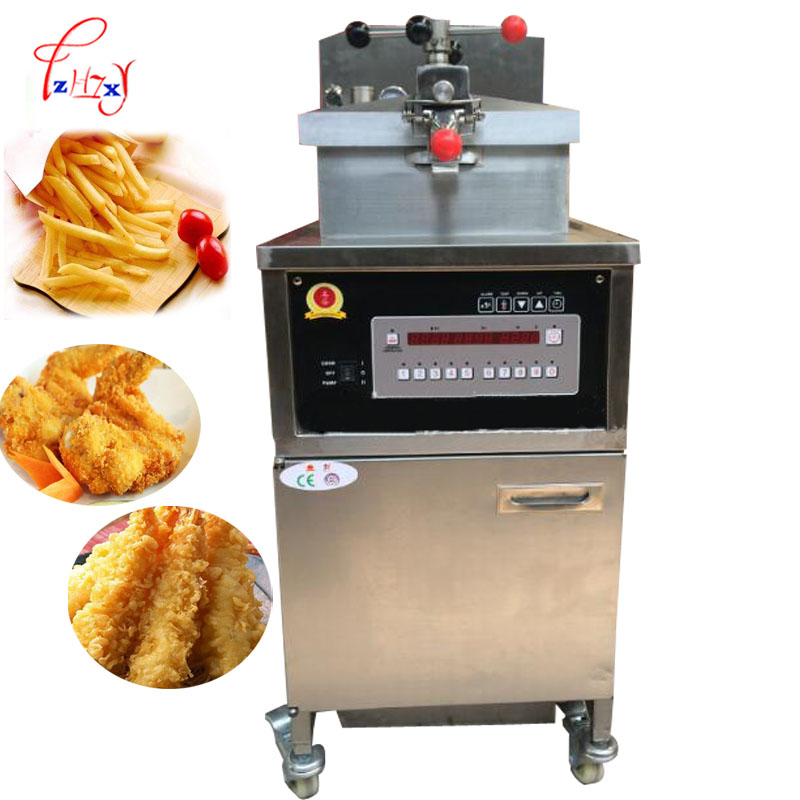 Vertical Single Cylinder Commercial Gas Type Fryer Electric French Fries Frying Machine Chicken Pressure Fryer PFE-800  1pc
