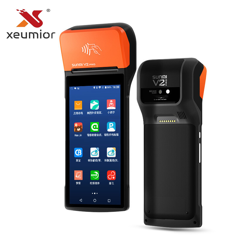 Sunmi V2 pro 4G Android Handheld POS Terminal With Printer WIfi NFC Mobile POS Devices with Barcode Scanner clocks and colours nomad