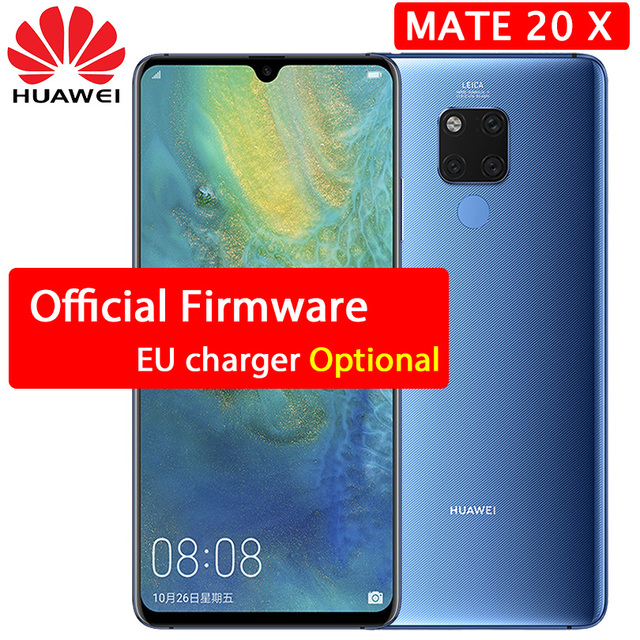 HUAWEI Mate 20 X 20X Smartphone 7.2 inch Full Screen 2244x1080 Kirin 980 octa core EMUI 9.0 5000 mAh 4*Camera Quick Charger