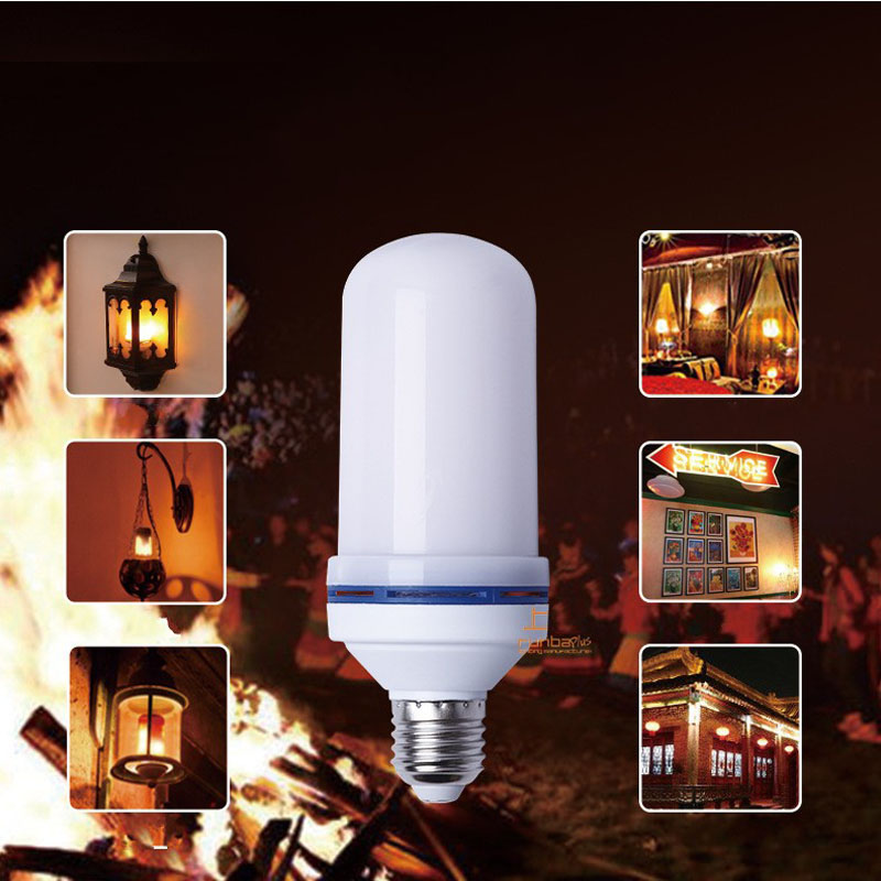 Creative 4 modes+Gravity Sensor Flame Lights E27 E26 E14 LED Flame Effect Fire Light Bulb 15W Flickering Emulation Decor Lamp 4w e27 e26 led dynamic flame effect fire lamp bulbs flicker emulation light bulb ac100v 240v night lights with 3 modes lampada