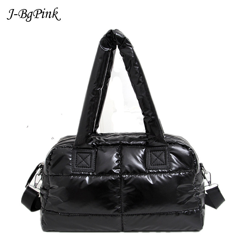 New 2020 Winter Women Space Cotton Fashion Ladies Handbags Luminous Fashion Shoulder Bag Pouch Female tote Bolsas sac a main