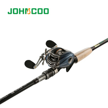 JOHNCOO JOURNEY Fishing Rod Combo 2.1m 2.4m 2.7m Carbon Rod Baitcasting Fishing Rod Medium Fast 4 Sections Fishing Rod Set