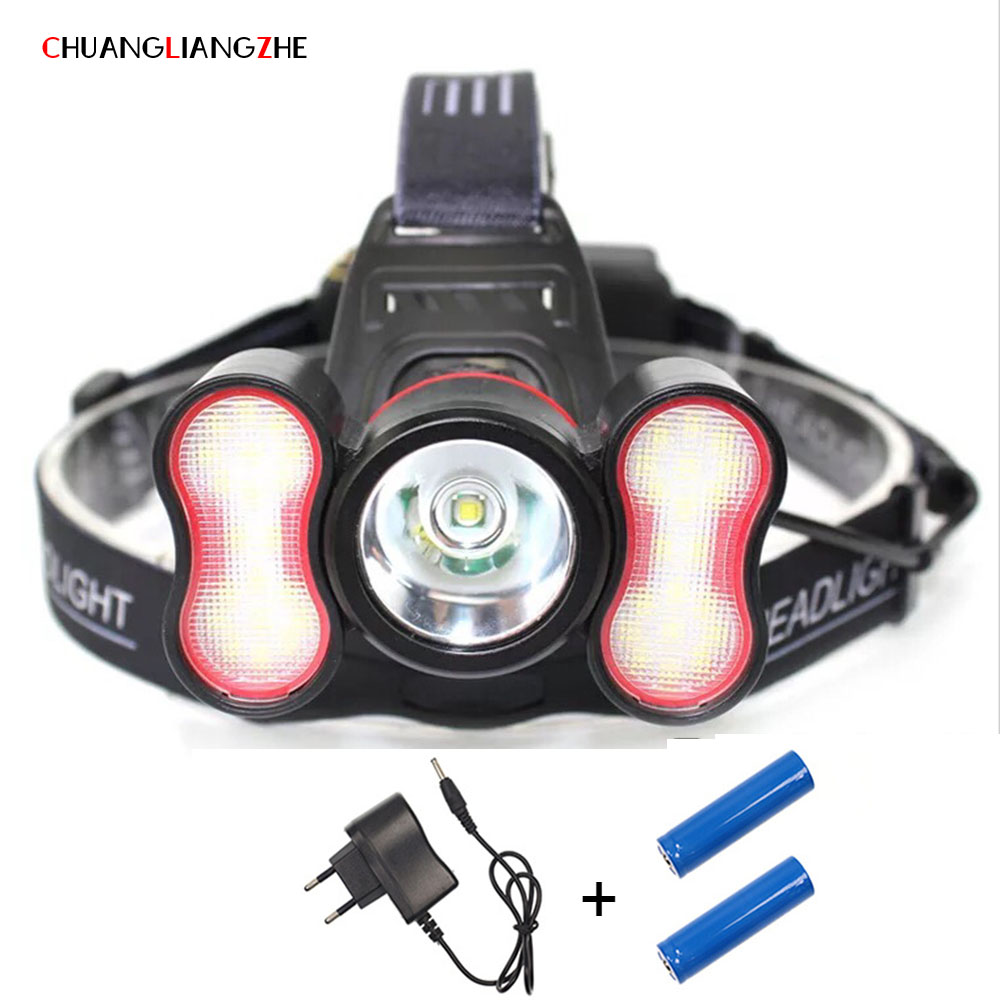 Intelligent Headlight Outdoor Lighting Emergency Lighting Glare 1T6 +40 Auxiliary Lightsfishing Led Headlamp