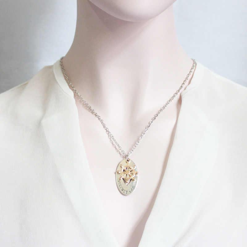 אופנה שרשרת זוג תכשיטי מלבן תליון פשוט וקל עיצוב אישה גברים אוהבי שרשרת HJXL1005
