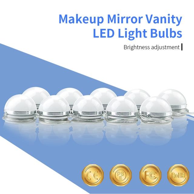 Vanity makeup mirror led light bulbs ac85 265v stepless dimmable vanity makeup mirror led light bulbs ac85 265v stepless dimmable touch switch dimmer 10pcs of aloadofball Gallery