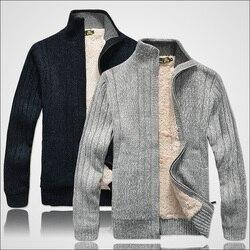 Мужские свитера, свитер с длинным рукавом, Повседневный Кардиган, толстый вязаный свитер, верхняя одежда, зимнее пальто для мужчин