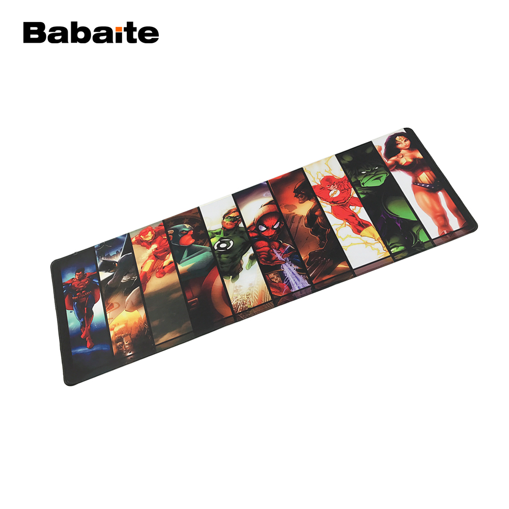 Babaite Personalized Gaming Rubber Mousepad Background Marvel Comics Design Big Best Comfort Game Superheroes Hulk Mouse to Mats