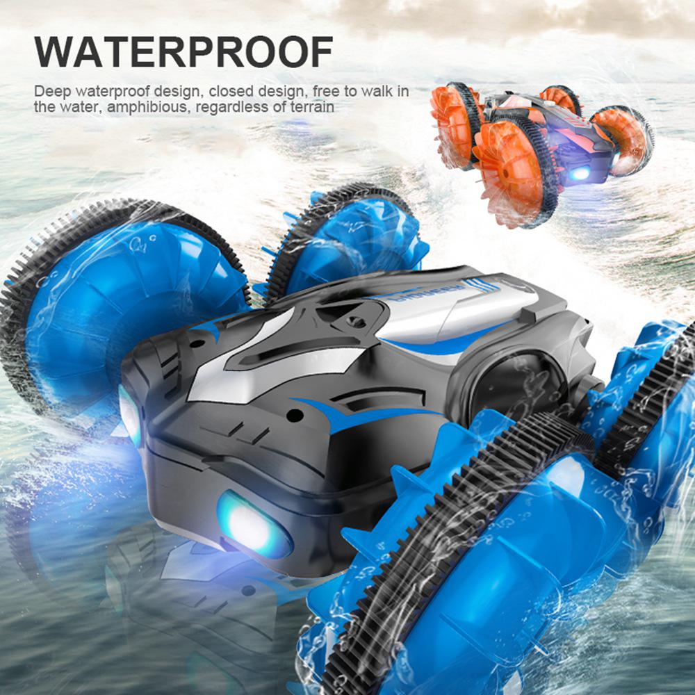 Image 3 - RC Amphibious Stunt Car Waterproof 360 Degree Rotation Remote Control Car Power Speed Vehicle Toys for Kids-in RC Cars from Toys & Hobbies