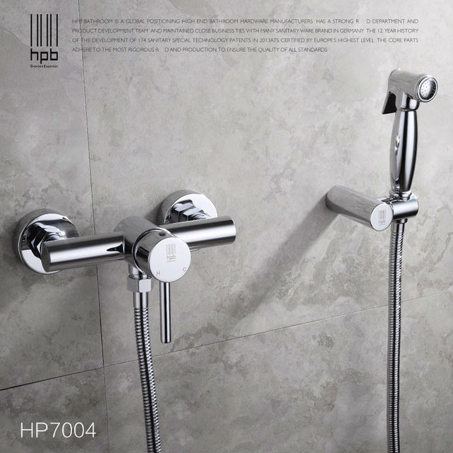 HPB Brass Hot and Cold Water Bathroom Toilet Portable Spray With ...