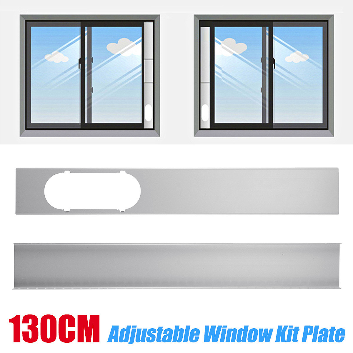 2x Adjustable Window Slide Kit Plate Spare Parts For Portable Air Conditioner2x Adjustable Window Slide Kit Plate Spare Parts For Portable Air Conditioner