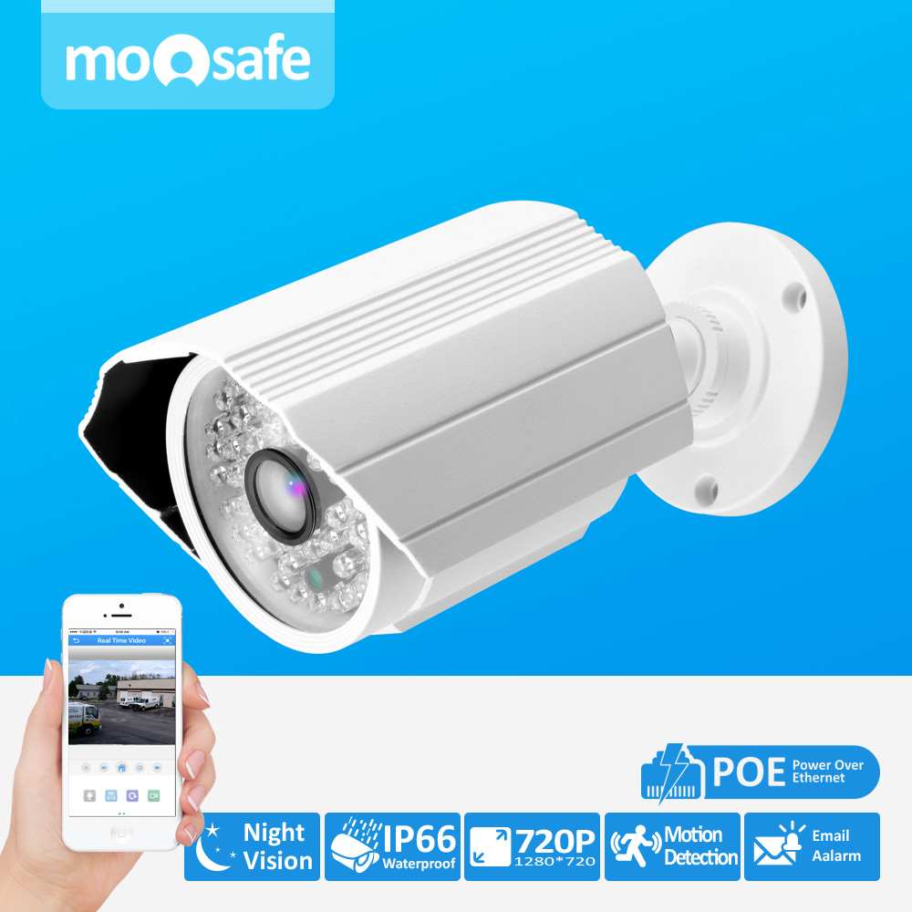 1MP POE Camera Power Over Ethernet 1280*720P ONVIF Outdoor IR Night Vision Bullet cloud service Home Security Camera the security issues of cloud computing over normal