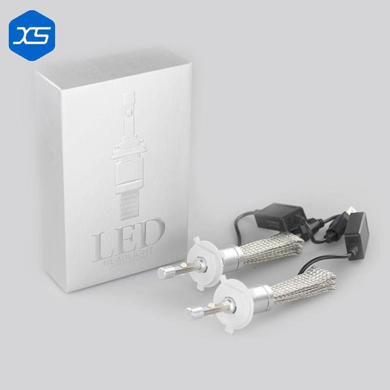 ФОТО 1 Set H1 H3 H7 40w 4800lm LED Headlight Kit For Car Use H11 9005 9006 Single Beam Auto Vehicle Repalced Bulb H1 Car Light Sourc