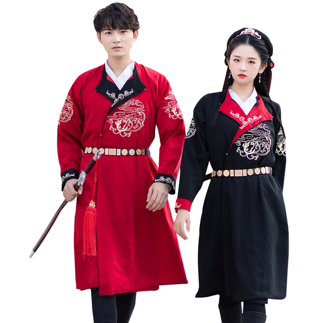 New men women hanfu costume cosplay clothes male Chinese ancient robe Ming dynasty dress TV Film Stage Performance Outfit