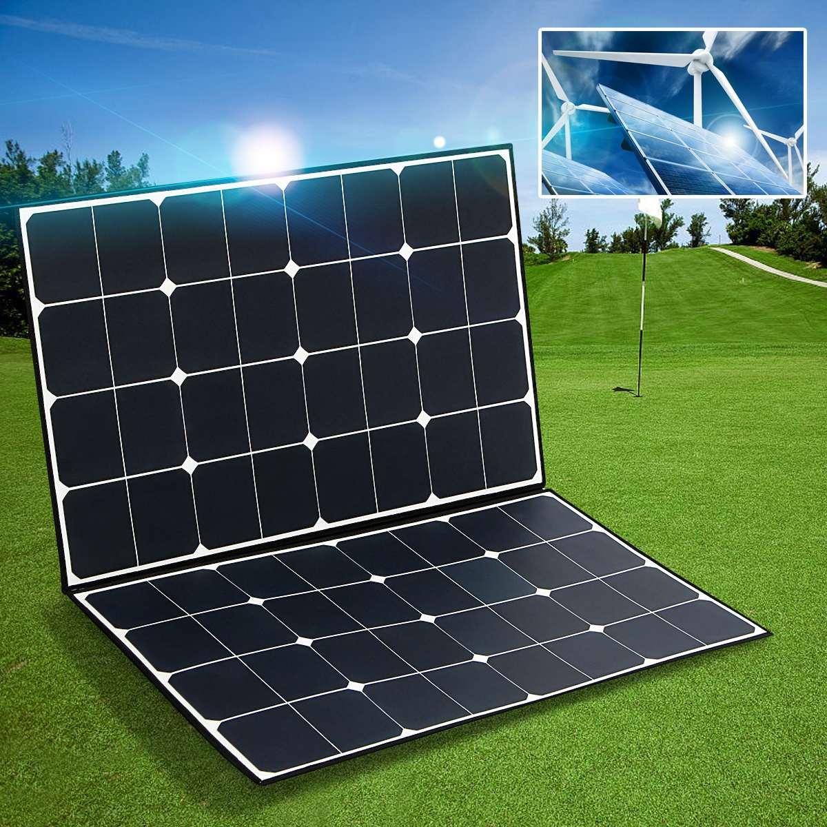 SP-22 Folding Zipper 160W 18V Semi Flexible Monocrystalline Solar Panel High Conversion Efficiency + one-to-two MC4 connector