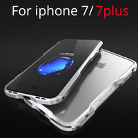 Luxury Luphie For Iphone7 Bumper Case Aluminum Metal Prismatic Shape Frame Metal Button Case For Iphone