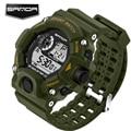 Sanda marca homens mulheres relógios desportivos relógio digital led militar relógio de pulso à prova d' água ao ar livre ocasional relogios masculino
