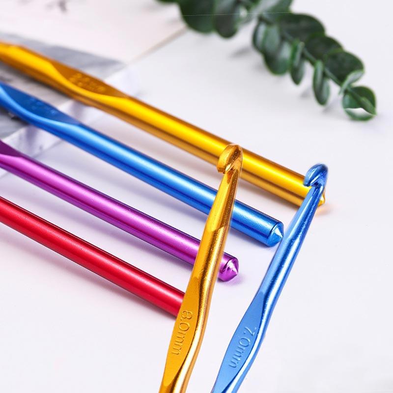2.0-10.0mm Aluminum Oxide Popular Knitting Needles Hot Sale Sewing Needles 1PC Crochet Hook Weave Crochet High Quality